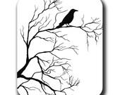 Tree Crow Bird Raven Mouse Pad