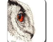 Owl Profile Mouse Pad - Bird Art