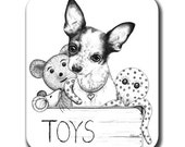 Chihuahua Mouse Pad - Dog in Toybox Art