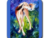 Saluki Twist Dog Art Mouse Pad in Color