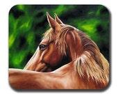 Chestnut Horse Art Mouse Pad