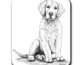 Golden Retriever Dog Art Mouse Pad