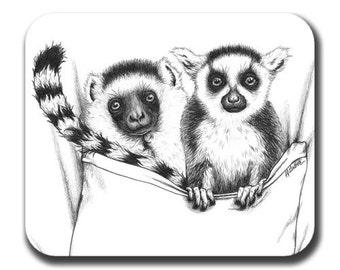 Lemurs in Pocket Art Mouse Pad