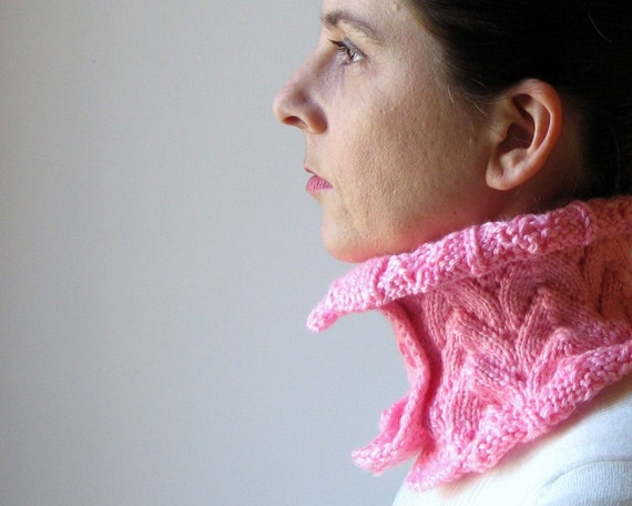 SALE - Ladylike Cowl Knitted in Pink Wool