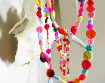 felt garland teeny tiny dots 10 feet