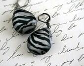 Zebra Tear Drop Gem Earrings Buy 3 Get 1 Free