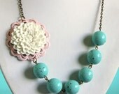 Asymmetrical White Chrysanthemum Necklace Buy 3 Get 1 Free