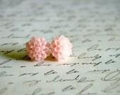 Pale Pink Dahlia Earrings Buy 3 Get 1 Free
