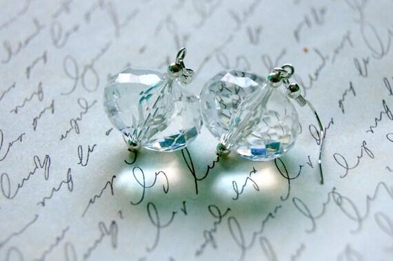 SALE Clear Bulb Earrings
