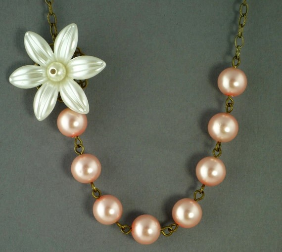 Asymmetrical Pearl Flower Necklace Buy 3 Get 1 Free