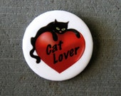 Cat Lover Button
