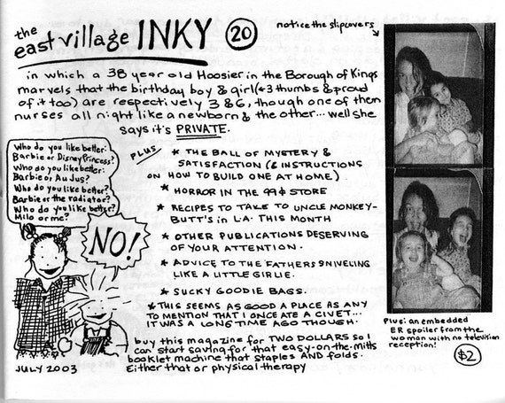 The East Village Inky, Issue No. 20