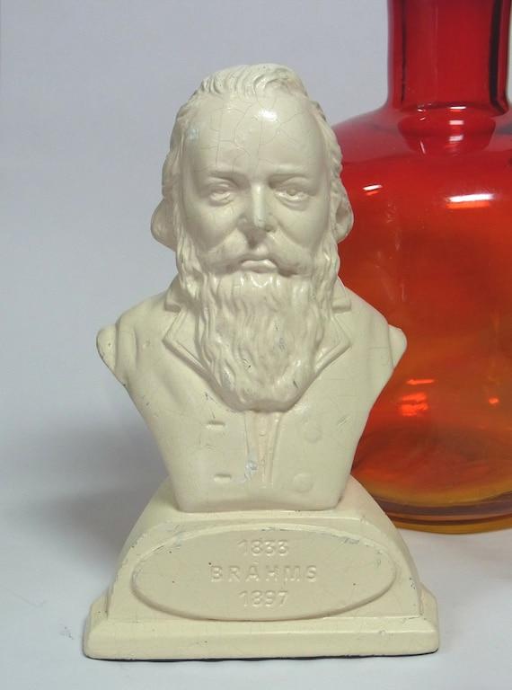 SALE Small Vintage Johannes Brahms Bust Composter Pianist