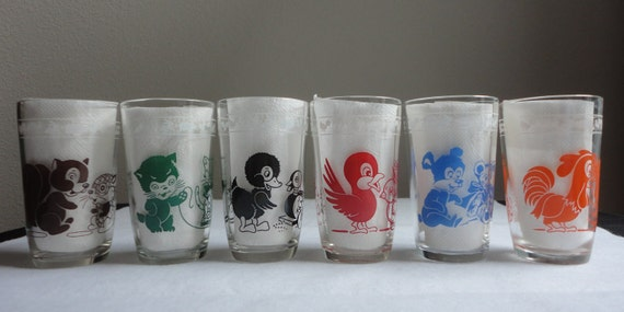 Set of 6 Swanky Swigs Cute Animals