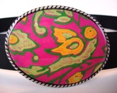 Pink Polly Belt Buckle - Wearable Art