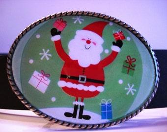 Santa Belt Buckle - Wearable Art