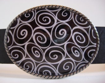 Belt Buckle, Swirls, Jada wearable art
