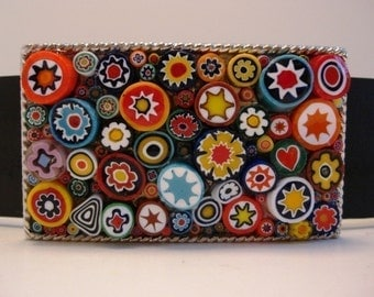 Jada Original Millefiori Rectangle Belt Buckle Featured on the Daily Grommet