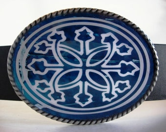 Jada Belt Buckle - Blue Shield