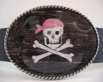 belt buckle, Pirate Princess Belt Buckle