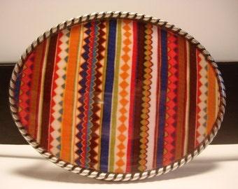 Ric Rac Belt Buckle - Oval Wearable Art