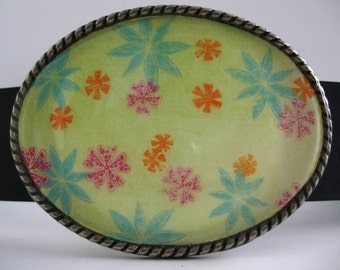 Men or Womens Belt Buckle - Spring Tropic Jada Belt Buckle