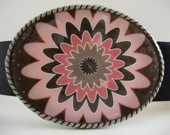 Chocolate Parfait Jada Oval Belt Buckle - Wearable Art