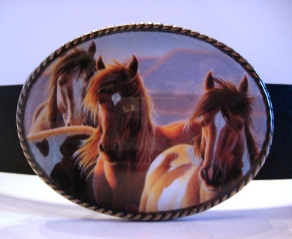 Apollo Horses Belt Buckle