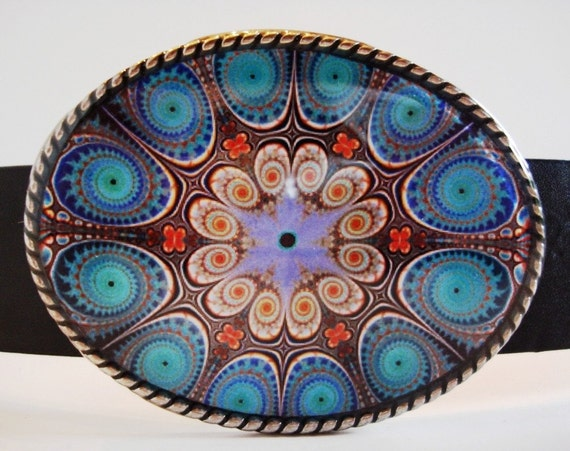 belt buckle, Blue Bhindi Wheel Belt Buckle