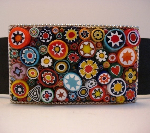 The Original 3-D Rectangle Millefiori Jada Belt Buckle - Featured on the Daily Grommet