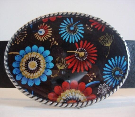 Women Belt Buckle -  Mum - Oval Wearable Art