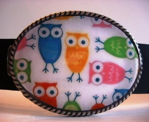 Owl Belt Buckle, Mod HOOT Owls