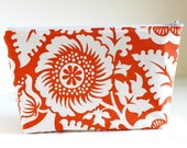 The Danielle Cosmetic Bag - Heirloom Amber print - HandsFullDesigns