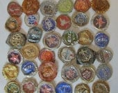 36 Smashed Weathered Some Rusty Beer Soda Pop Bottle Caps Assemblage Welding 3D Art Shrine Mixed Media Metal Sculpture Altered Art Supplies