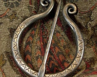 Hand Forged Stainless Steel Cloak Pin Medieval Renaissance