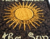 HERE COMES the SUN - medium large handmade embroidered art patch