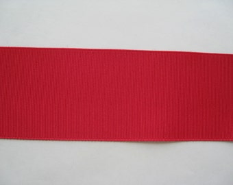 "Grosgrain Ribbon Geranium-8 yds 2 1/4 inch wide (IN 2 PIECES) or 10 yds 1 1/2 inch wide  or 16 yds 7/8"" wide"