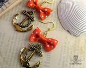 SWEET SAILORETTE - Red Charm Earrings