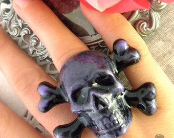 SKULLIE COUTURE - Purple Skeleton Ring