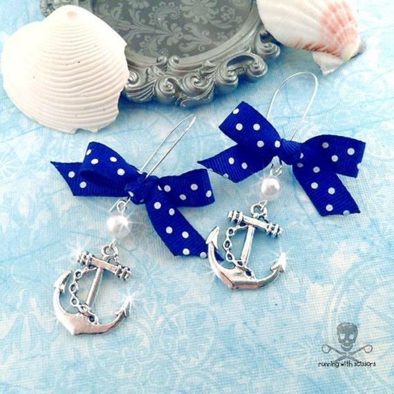 SWEET SAILORETTE - Blue Charm Earrings