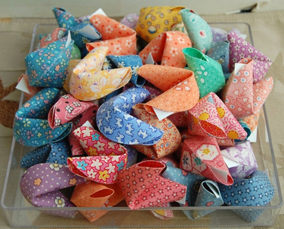 10 Fabric Origami Fortune Cookies reserved for Amanda - photo#37