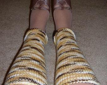 Ladies Leg Warmers - EARTHY BROWNS