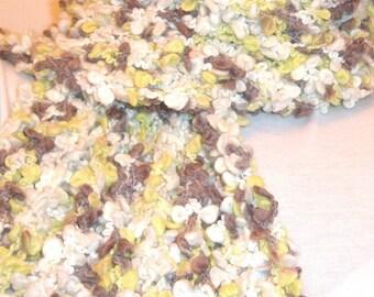 Chunky Knit Scarf - SWAMP GRASS