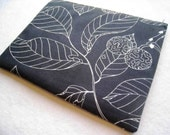 "Leaves on Black - Laptop Sleeve Laptop Cover - Bag - Case - Padded and Zipper Closure for Macbook Air 13 Inch or Macbook 13"" Pro"