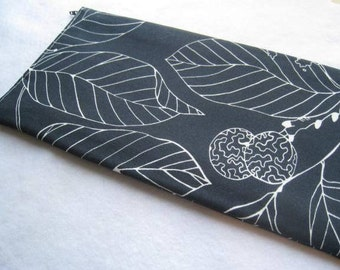 Leaves  on Black -  Apple Magic Keyboard or Samsung Wireless Keyboard Sleeve - Padded and Zipper Closure