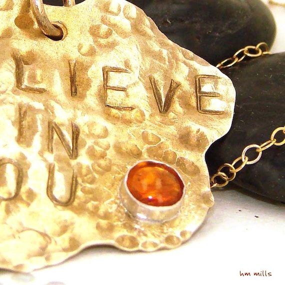 Believe in You with Citrine - Necklace