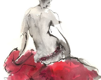 The Line of Her Back Fine Art Print