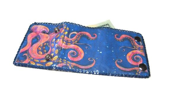 Octopus Vinyl Wallet