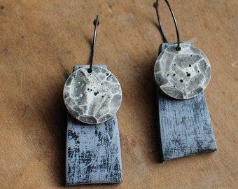 Lunar kinetic dangle earrings