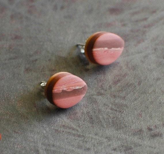 Sunset post earrings